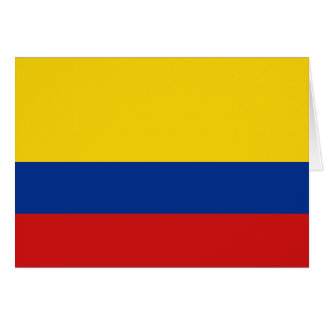 Colombia Flag Notecard