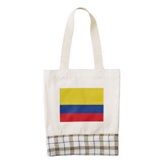 Colombia Flag Oil Painting Zazzle HEART Tote Bag