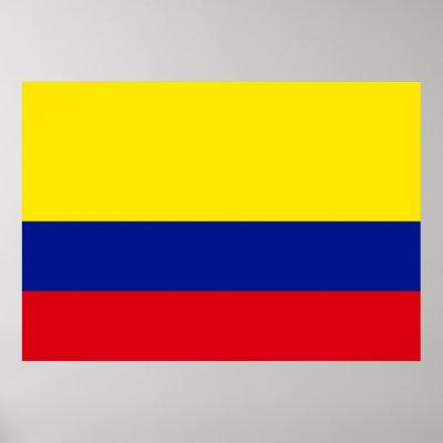 bandera de colombia. Bandera de Colombia Poster por
