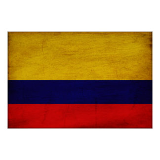 Colombia Flag Poster