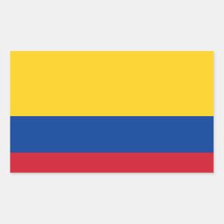 Colombia flag rectangular sticker