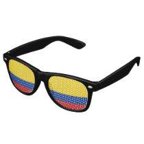 Colombia Flag Retro Sunglasses