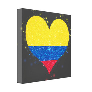 Colombia Flag Shining Beautiful Canvas Print
