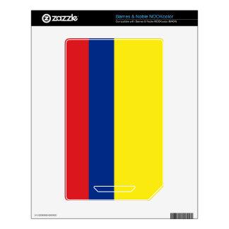 Colombia Flag NOOK Color Skins