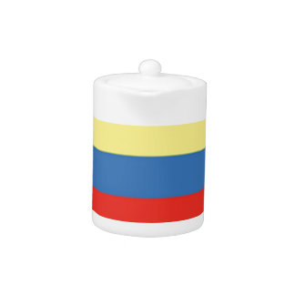Colombia Flag Teapot