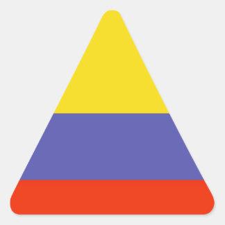 Colombia Flag Triangle Sticker