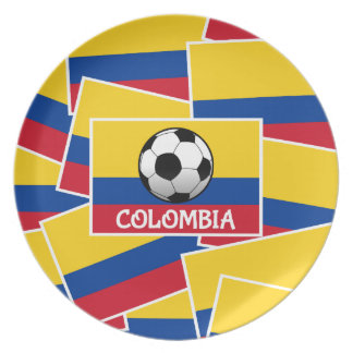 Colombia Football Dinner Plate