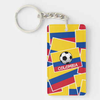 Colombia Football Keychain