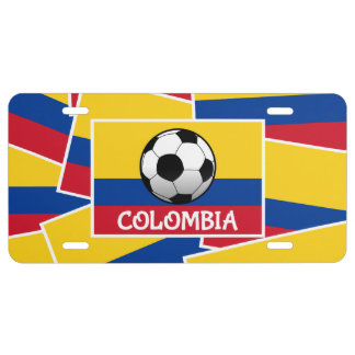 Colombia Football License Plate