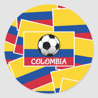 Colombia Football Classic Round Sticker