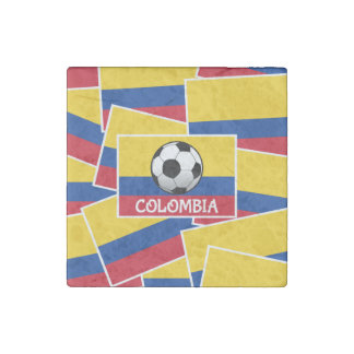 Colombia Football Stone Magnet