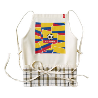 Colombia Football Zazzle HEART Apron
