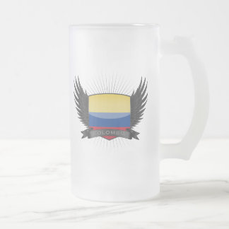 COLOMBIA FROSTED GLASS BEER MUG