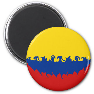 Colombia Gnarly Flag Magnet