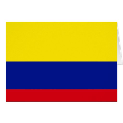 Colombia High quality Flag Greeting Cards