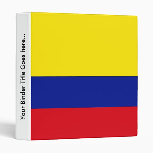 Colombia High quality Flag Vinyl Binder