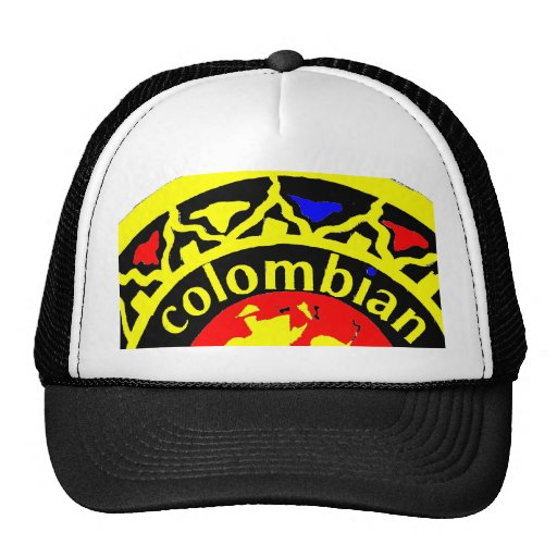 Colombia logo in colors trucker hat