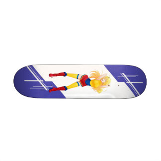 Colombia Manga girl dressed in Flag - Colombian Skate Deck
