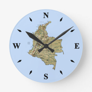 Colombia Map Clock