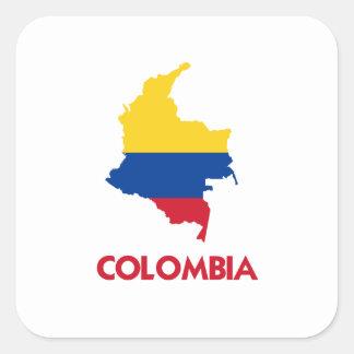 COLOMBIA MAP SQUARE STICKER