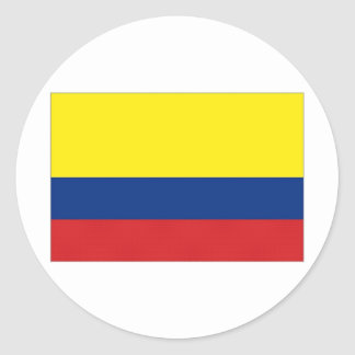 Colombia National Flag Classic Round Sticker