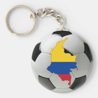 Colombia national team basic round button keychain
