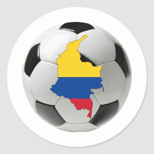 Colombia national team classic round sticker