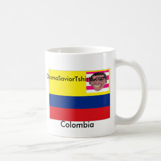 Colombia & Obama Classic White Coffee Mug