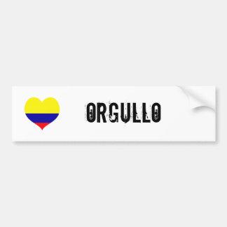 Colombia orgullo(pride) bumper sticker