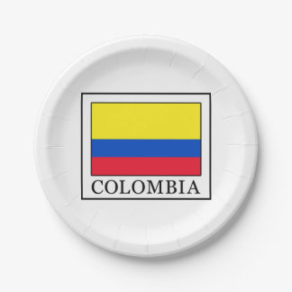 Colombia Paper Plate