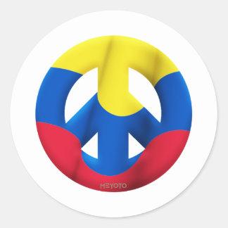 Colombia Pegatina Redonda