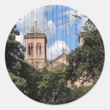 Colombia-Plaza Bolivar-Medellin-Iglesia