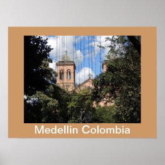 Colombia-Plaza Bolivar-Medellin-Iglesia Posters