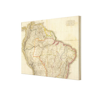 Colombia Prima, hoja de S América N Impresión En Lienzo