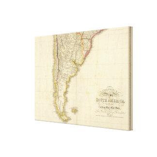 Colombia Prima, hoja de S América S Impresión En Lienzo
