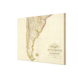 Colombia Prima, S America S sheet Canvas Print