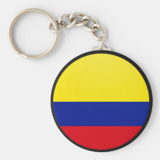 Colombia quality Flag Circle Keychain