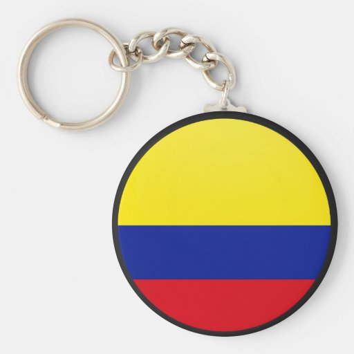 Colombia quality Flag Circle Basic Round Button Keychain