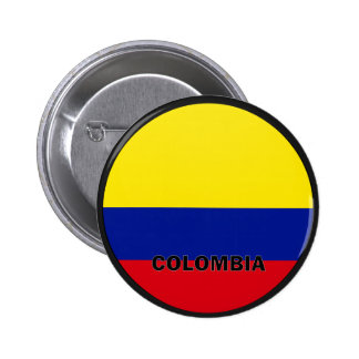 Colombia Roundel quality Flag 2 Inch Round Button