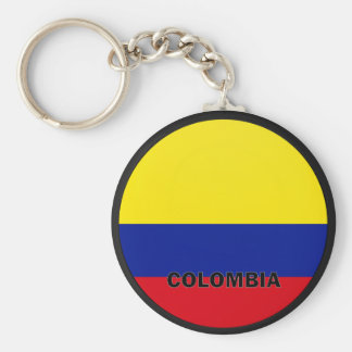 Colombia Roundel quality Flag Key Chains