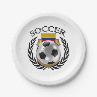 Colombia Soccer 2016 Fan Gear Paper Plate