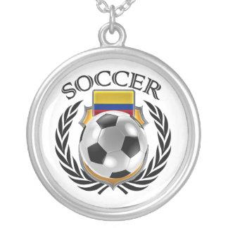 Colombia Soccer 2016 Fan Gear Silver Plated Necklace