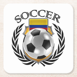 Colombia Soccer 2016 Fan Gear Square Paper Coaster