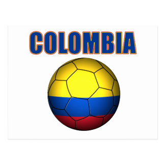 Colombia Soccer  2710 Postcard