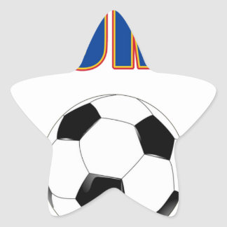 Colombia Soccer  3733 Star Sticker
