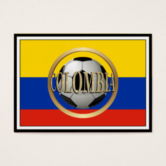 Colombia Soccer Ball Business Card