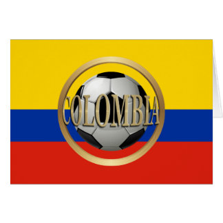 Colombia Soccer Ball Card