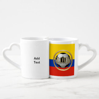 Colombia Soccer Ball Couple Mugs