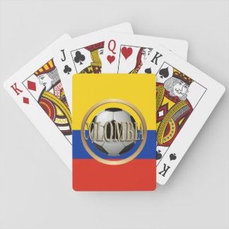 Colombia Soccer Ball Deck Of Cards