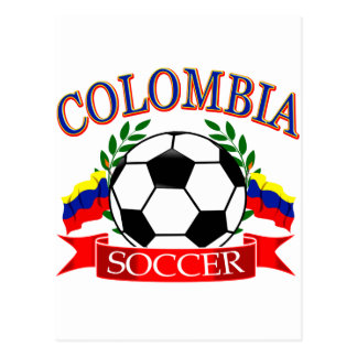 Colombia soccer ball designs postcard